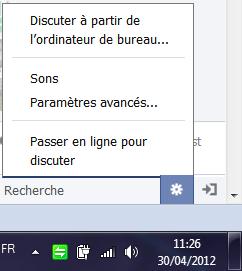 masquer sa presence sur facebook